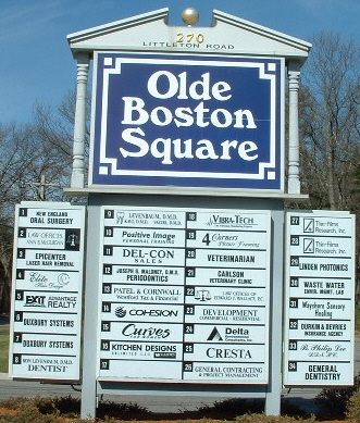 picture of the sign for Olde Boston Square